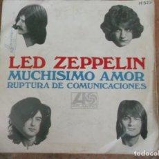 Discos de vinilo: LED ZEPPELIN-MUCHISIMO AMOR-RUPTURA DE COMUNICACIONES-ORIGINAL ESPAÑOL 1969. Lote 172856242