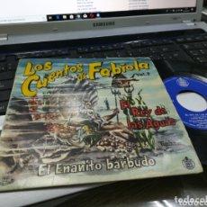 Discos de vinilo: LOS CUENTOS DE FABIOLA SINGLE EL REY DE LAS AGUAS / EL ENANITO BARBUDO 1960. Lote 172856990
