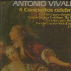 Discos de vinilo: VIVALDI 4 CONCIERTOS CELEBRES. Lote 172857499