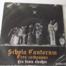 Discos de vinilo: SCHOLA CANTORUM - EN ESPAÑOL - TRES CAMPANAS / LA LUNA - 1977 RCA. Lote 172858998