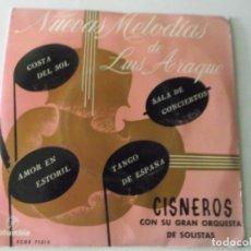 Discos de vinilo: NUEVAS MELODIAS DE LUIS ARAQUE,,SALA DE CONCIERTOS,COSTA DEL SOL,AMOR EN ESTORIL,TANGO DE ESPAÑA,. Lote 172859579