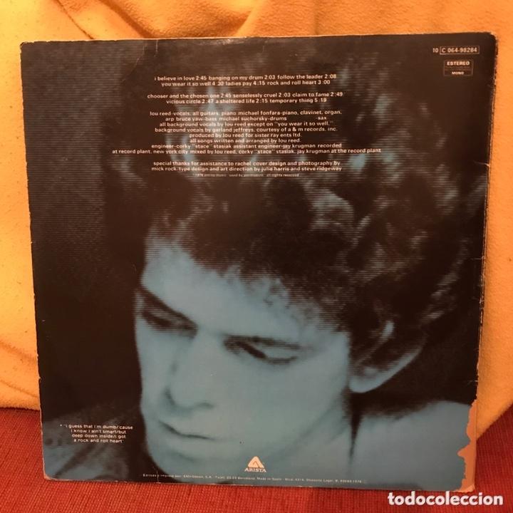 Discos de vinilo: Lou Reed - Rock And Roll Heart (LP, Album) (Arista) (C:VG,V:VG+) Tarifa Plana Envío España - Foto 2 - 172860702