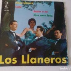 Discos de vinilo: LOS LLANEROS : ALMA LLANERA+LUPE+SABOR AMI+QUE SEAS FELIZ ///// ZAFIRO 1962. Lote 172860798
