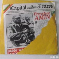 Discos de vinilo: CAPITAL LETTERS: PRESIDENT AMIN + FIRE (GREENSLEEVES, 1980). Lote 172861354