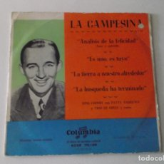 Discos de vinilo: BING CROSBY CON PATTY ANDREWS Y TRIO DE GIRLS Y COROS, ANALISIS DE LA FELICIDAD, ES MIO ES TUYO, EP. Lote 172861700