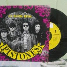 Discos de vinil: PISTONES LA BANDA RIVAL SINGLE SPAIN 1992 PDELUXE. Lote 172862103