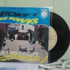 Discos de vinilo: MICKY Y LOS TONYS LA GALLINA SINGLE SPAIN 1968 PDELUXE. Lote 172862645
