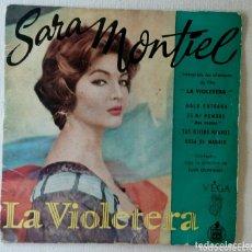 Discos de vinilo: SARA MONTIEL LA VIOLETERA MAXI SINGLE. Lote 172868195