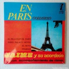 Discos de vinilo: JAIME Y SU ACORDEÓN SINGLE DE VINILO. Lote 172868370