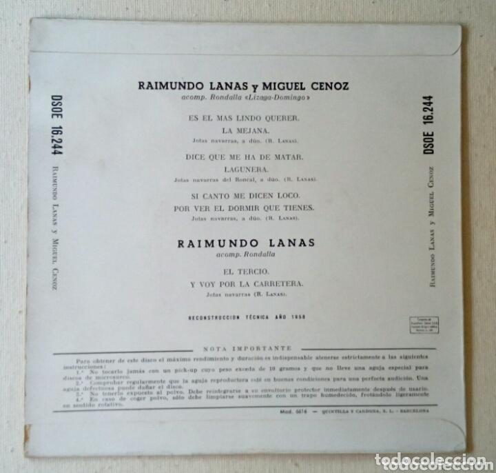 Discos de vinilo: Raimundo Lanas Jotas Navarras maxi single - Foto 2 - 172868465