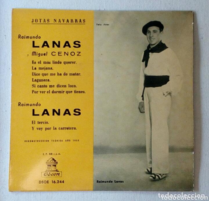 RAIMUNDO LANAS JOTAS NAVARRAS MAXI SINGLE (Música - Discos de Vinilo - Maxi Singles - Flamenco, Canción española y Cuplé)