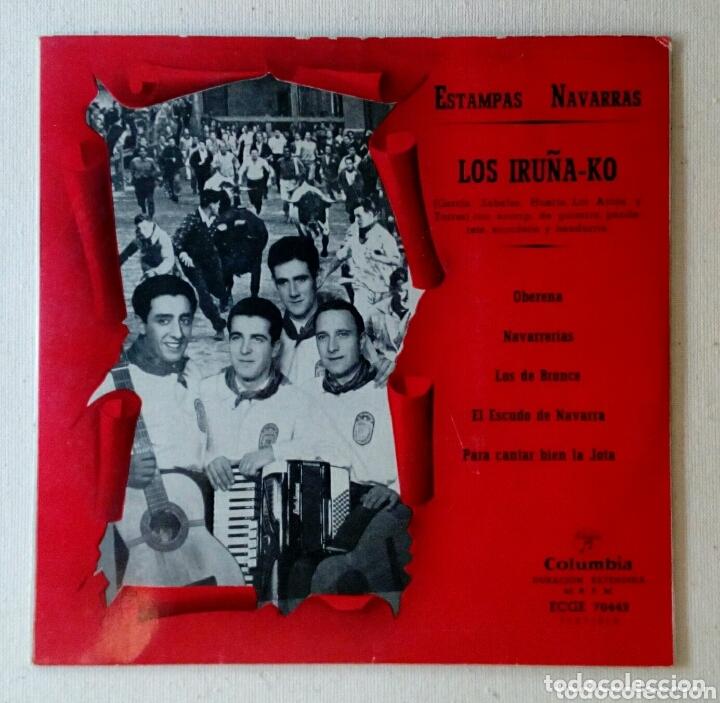 LOS IRUÑA-KO ESTAMPAS NAVARRAS MAXI SINGLE (Música - Discos de Vinilo - Maxi Singles - Flamenco, Canción española y Cuplé)