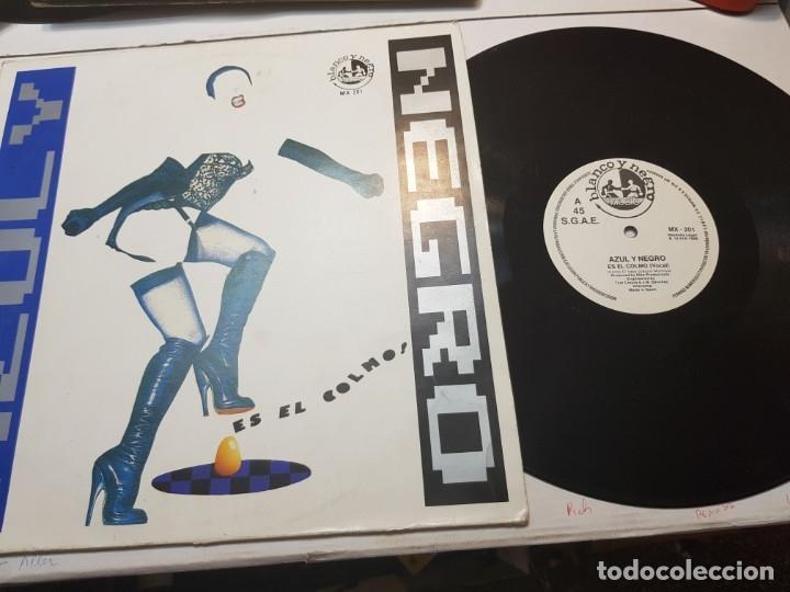 LP AZUL Y NEGRO -ES EL COLMO - EN FUNDA ORIGINAL 1988 (Música - Discos - LP Vinilo - Grupos Españoles de los 70 y 80)