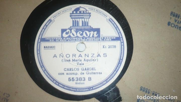 Discos de vinilo: Carlos Gardel -Disco vinilo: Añoranzas y Cualquier cosa -Odeon - Foto 2 - 172879627