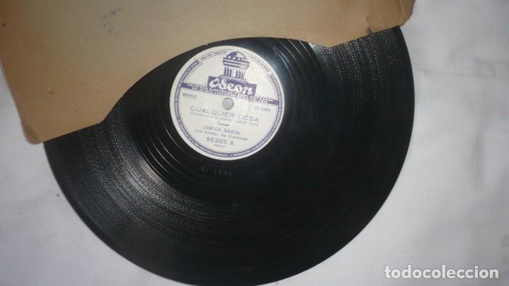 Discos de vinilo: Carlos Gardel -Disco vinilo: Añoranzas y Cualquier cosa -Odeon - Foto 4 - 172879627