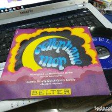 Discos de vinilo: CELLOPHANE MOP SINGLE WHAT GOES UP MUST COME DOWN 1970. Lote 172886774