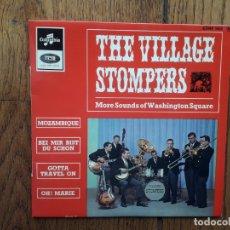Discos de vinilo: THE VILLAGE STOMPERS - MOZAMBIQUE + BEI MIR BIST DU SCHON + GOTTA TRAVEL OUT + OH! MARIE. Lote 172890859