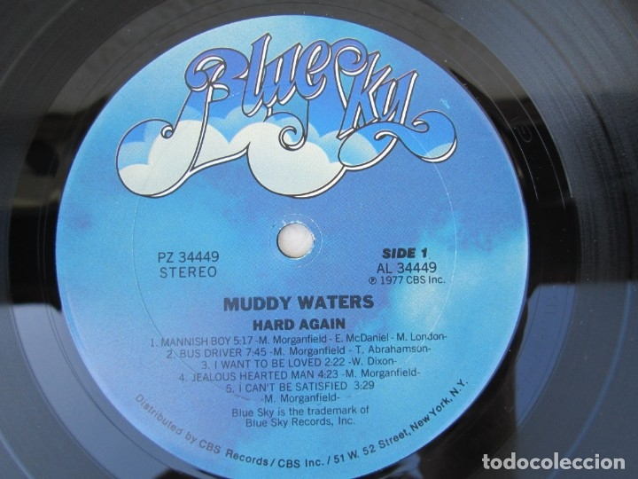 Discos de vinilo: MUDDY WATERS. HARD AGAIN. LP VINILO. BLUE SKY. CBS 1977. VER FOTOGRAFIAS ADJUNTAS - Foto 4 - 172895765