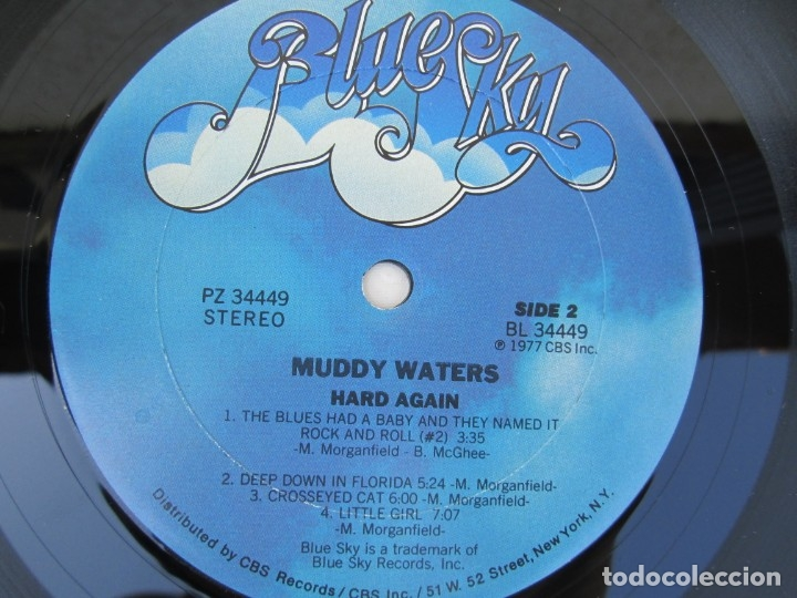 Discos de vinilo: MUDDY WATERS. HARD AGAIN. LP VINILO. BLUE SKY. CBS 1977. VER FOTOGRAFIAS ADJUNTAS - Foto 6 - 172895765