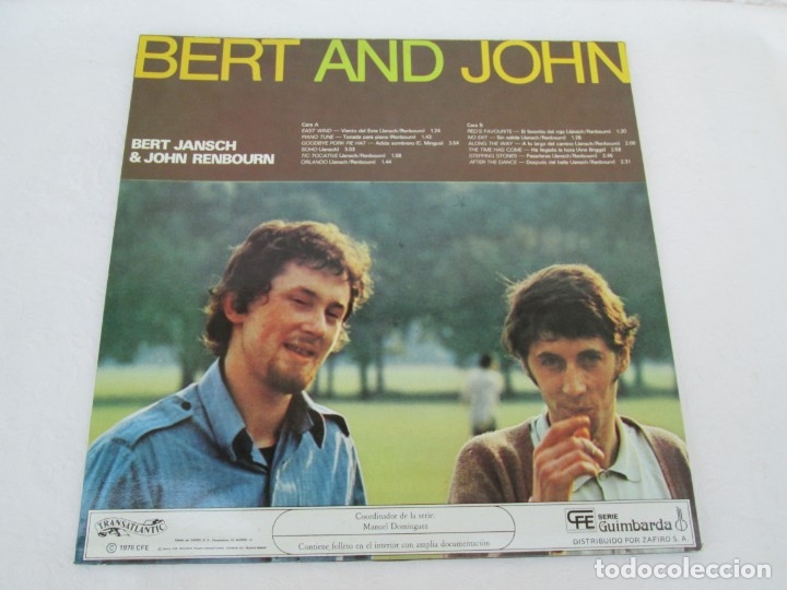 Discos de vinilo: BERT AND JHON. BERT JANSCH & JOHN RENBOURN. LP VINILO. TRANSATLANTIC ZAFIRO 1978. VER FOTOGRAFIAS - Foto 9 - 172897122