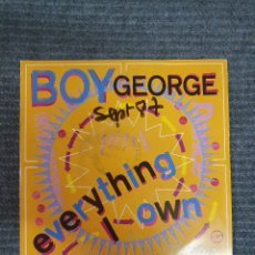Discos de vinilo: BOY GEORGE ?– EVERYTHING I OWN SELLO: VIRGIN ?– 90308 FORMATO: VINYL, 7 , 45 RPM, SINGLE, LP VERSIO. Lote 172908702