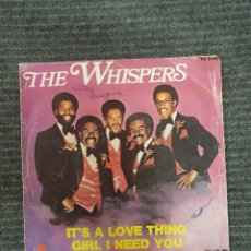 Discos de vinilo: THE WHISPERS ?– IT'S A LOVE THING / GIRL I NEED YOU SELLO: RCA VICTOR ?– YB 2154 FORMATO: VINYL, 7 . Lote 172909032