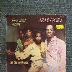 Discos de vinilo: ARPEGGIO LOVE AND DESIRE/LET THE MUSIC PLAY SELLO: POLYDOR ?– 2001 858 FORMATO: VINYL, 7 . Lote 172910404