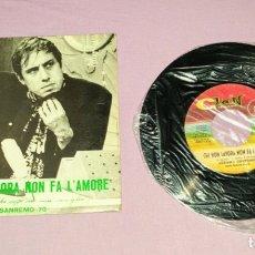 Discos de vinilo: SINGLE DE ADRIANO CELENTANO FESTIVAL DE SAN REMO 1970.. Lote 172919945