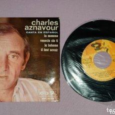 Discos de vinilo: MAXI SINGLE DE CHARLES AZNAVOUR.. Lote 172920443