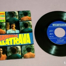 Discos de vinilo: MAXI SINGLE DE LOS HERMANOS CALATRAVA HONEY. LOS EJES DE MI CARRERA. BRAVO. ANGELITOS NEGROS.. Lote 172920460