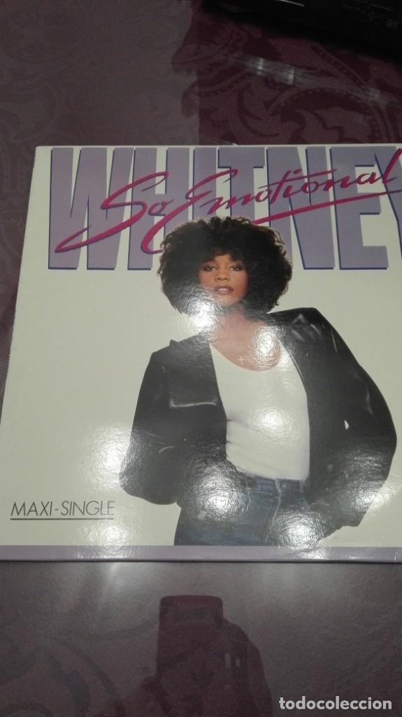 WHITNEY HOUSTON SO EMOTIONAL (Música - Discos de Vinilo - Maxi Singles - Disco y Dance)