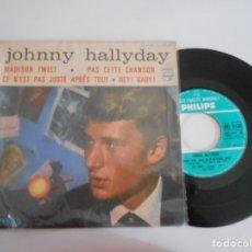 Discos de vinilo: JOHNNY HALLYDAY-EP MADISON TWIST +3. Lote 172934970