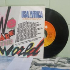 Discos de vinilo: VARIOS - POP - USA FOR AFRICA WE ARE THE WORLD SINGLE SPAIN 1985 PDELUXE. Lote 172944058