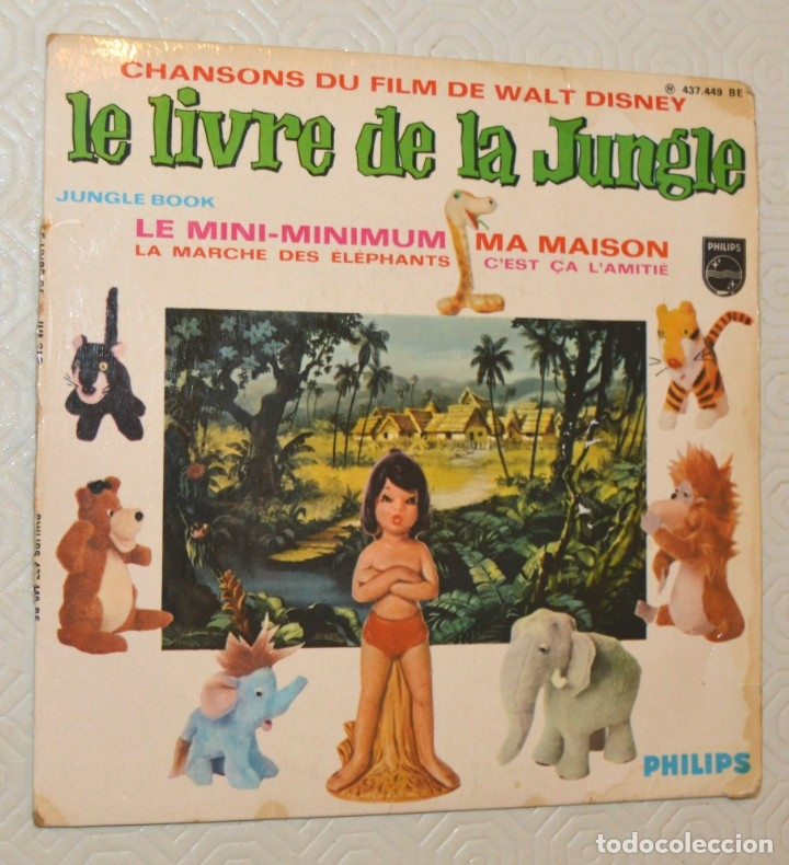 LE LIVRE DE LA JUNGLE - CHANSONS - PHILIPS (Música - Discos de Vinilo - EPs - Bandas Sonoras y Actores)