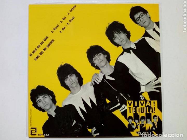 Discos de vinilo: TEQUILA - Es Sólo Un Día Más + Dime Que Me Quieres - ED. LIMITADA VINILO AZUL - Super 45 Maxi Single - Foto 2 - 172953652