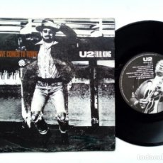 Discos de vinilo: SINGLE - U2 : WHEN LOVE COMES TO TOWN + DANCING BAREFOOT (ISLAND RECORDS, 1989). Lote 172953982