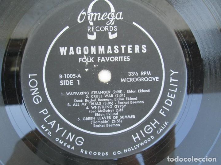 Discos de vinilo: THE WAGONMASTERS FOLK FAVORITES. DEDICADO POR LOS AUTORES B.BEEMAN. H.WALKER. R.BEEMAN. E.EKLUND. - Foto 4 - 172955237