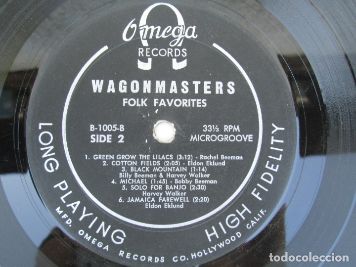 Discos de vinilo: THE WAGONMASTERS FOLK FAVORITES. DEDICADO POR LOS AUTORES B.BEEMAN. H.WALKER. R.BEEMAN. E.EKLUND. - Foto 6 - 172955237
