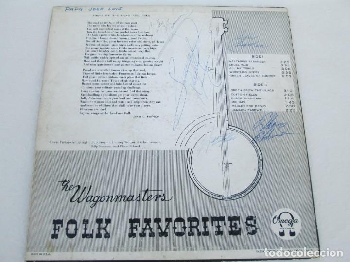Discos de vinilo: THE WAGONMASTERS FOLK FAVORITES. DEDICADO POR LOS AUTORES B.BEEMAN. H.WALKER. R.BEEMAN. E.EKLUND. - Foto 7 - 172955237