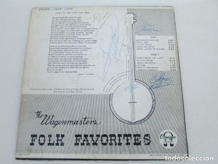 Discos de vinilo: THE WAGONMASTERS FOLK FAVORITES. DEDICADO POR LOS AUTORES B.BEEMAN. H.WALKER. R.BEEMAN. E.EKLUND. - Foto 14 - 172955237