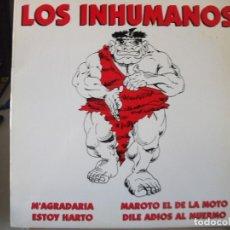 Discos de vinilo: MAXI SINGLE DE LOS INHUMANOS , M´AGRADARIA / ESTOY HARTO / MAROTO EL DE LA MOTO + 1 (AÑO 1994) PROMO. Lote 172955880