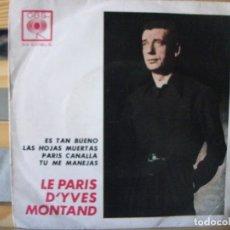 Discos de vinilo: EP DE YVES MONTAND , LE PARIS D´YVES MONTAND (EDICIÓN ARGENTINA, 33 R.P.M.), VER FOTOS . Lote 172956739