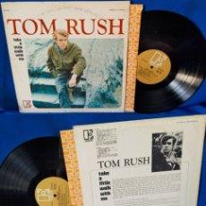 Discos de vinilo: TOM RUSH / TAKE A LITTLE WALK WITH 1966 !! AL KOOPER !! RARA 1ª EDIC ORG USA + INSERT ELEKTRA, EXC. Lote 48030122