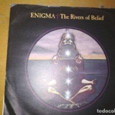 Discos de vinilo: ENIGMA THE RIVERS OF BELIEF SINGLE SPAIN. Lote 184038126