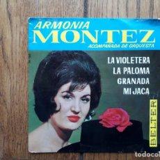 Discos de vinilo: ARMONIA MONTEZ - GRANADA + MI JACA + LA VIOLETERA + LA PALOMA. Lote 172980403