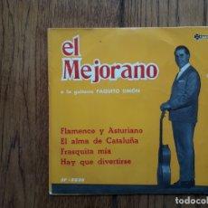 Discos de vinilo: EL MEJORANO - FLAMENCO Y ASTURIANO + FRESQUITA MIA + EL ALMA DE CATALUÑA + HAY QUE DIVERTIRSE. Lote 172980844