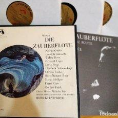 Discos de vinilo: LP BOX (3 LP) DIE ZAUBERFLÖTE / LA FLAUTA MÁGICA - GEDDA, POPP, SCHWARZKOPF, 1967,COMO NUEVO(NM_NM). Lote 173002184