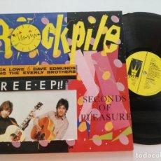 Discos de vinilo: ROCKPILE -SECONDS OF PLEASURE - LP UK F BEAT 1980 // ED. CON EP INTEGRADO EN PORTADA // POWER POP. Lote 173011267