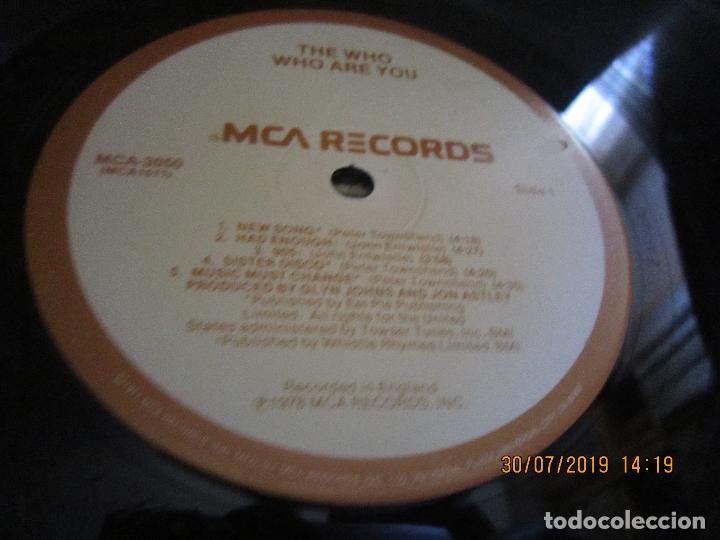 Discos de vinilo: THE WHO - WHO ARE YOU LP - ORIGINAL U.S.A. - MCA RECORDS 1978 CON FUNDA INT. GENERICA DE LA MCA - - Foto 15 - 173011387