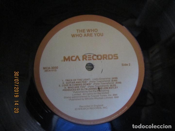 Discos de vinilo: THE WHO - WHO ARE YOU LP - ORIGINAL U.S.A. - MCA RECORDS 1978 CON FUNDA INT. GENERICA DE LA MCA - - Foto 18 - 173011387